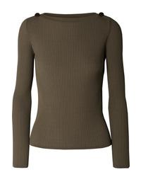 Max Mara Ribbed Knit Sweater