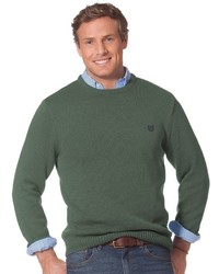 Chaps Solid Crewneck Sweater