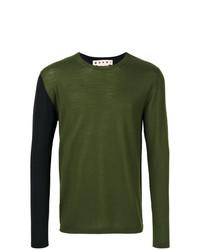 Marni Two Tone Crew Neck Sweater