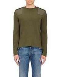 Valentino Virgin Wool Cashmere Military Sweater