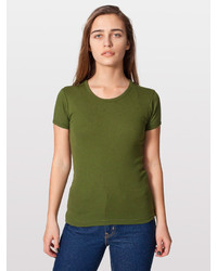 American Apparel Baby Rib Basic Short Sleeve T Shirt