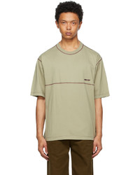 Ambush Beige Overstitched Jersey T Shirt