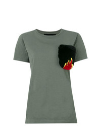 Mr & Mrs Italy Fur Pocket T Shirt