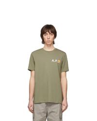A.P.C. Green Carhartt Wip Edition Fire T Shirt