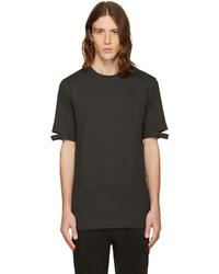 Green cut hem t shirt medium 952283