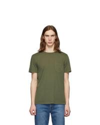 Frame Green Pocket T Shirt