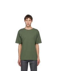 Dries Van Noten Green Round Collar T Shirt