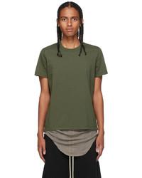 Rick Owens Green Short Level T Shirt