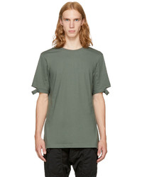 Helmut Lang Green Slash Sleeve T Shirt