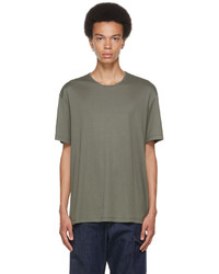 Lemaire Grey Fine Rib T Shirt