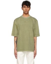 Ader Error Khaki Needle Logo T Shirt