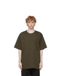 Y-3 Khaki Paper Jersey Pocket T Shirt