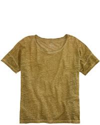 J.Crew Linen Boyfriend T Shirt