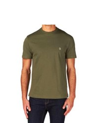Original Penguin Pin Point T Shirt Olive Night