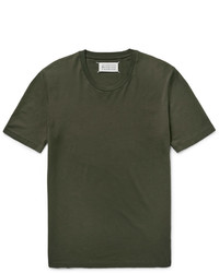 Maison Margiela Slim Fit Cotton Jersey T Shirt