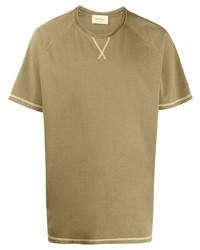 Salvatore Ferragamo Stitching Detail Crew Neck T Shirt
