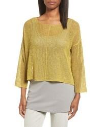 Eileen Fisher Organic Linen Crop Sweater
