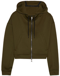 Nike Lab Cropped Stretch Hooded Top Army Green