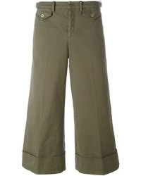 No.21 No21 Cropped Wide Leg Trousers