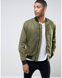 ONLY & SONS Bomber Jacket In Soft Touch Fabric