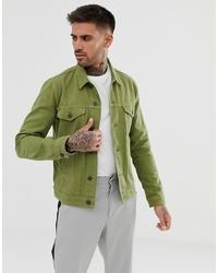 ASOS DESIGN Denim Jacket In Light Khaki