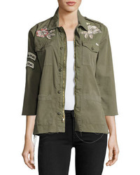Mother Top Brass Fray Utility Jacket Green