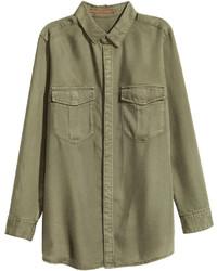 H&M Lyocell Utility Shirt