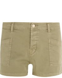 Brona cotton blend twill shorts army green medium 5083779