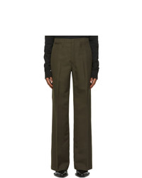 Lemaire Brown Wool Wide Leg Trousers