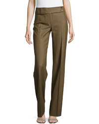 Michael Kors Michl Kors Plaid Flare Trousers Olive