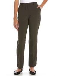 Sag Harbor Petite Straight Leg Dress Pants