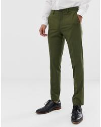 Jack & Jones Premium Stretch Slim Suit Trousers In Khaki