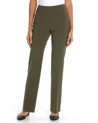 Sag Harbor Slimming Straight Leg Pull On Dress Pants