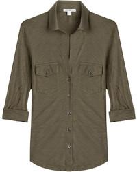 James Perse Jersey Cotton Shirt