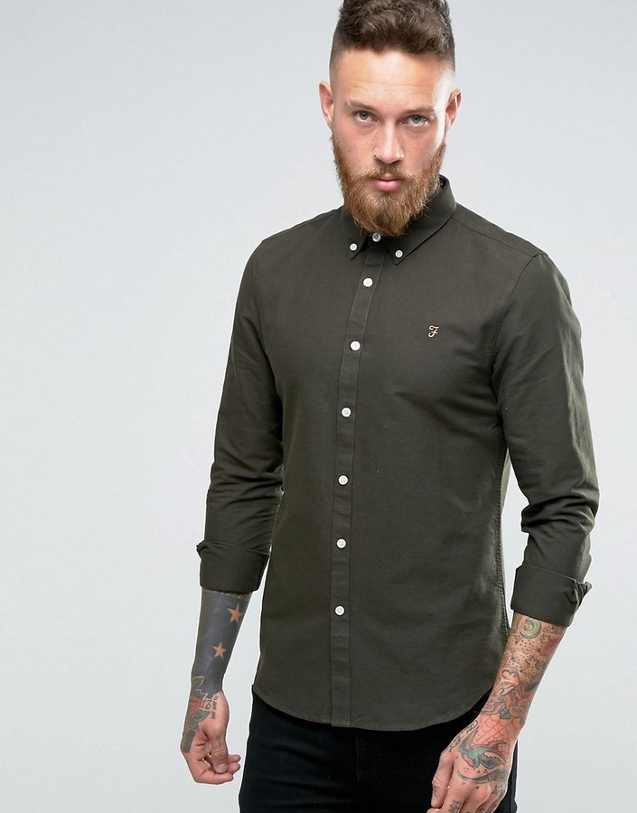 Olive green shirts for men t shirt design database for Olive green oxford shirt