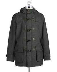 Brooks Brothers Red Fleece Wool Blend Toggle Coat