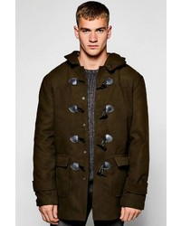 Boohoo Hooded Duffle Coat