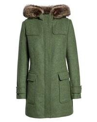 Pendleton Portland Wool Duffle Coat With Genuine