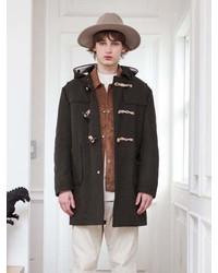 Wool Duffle Coat Khaki