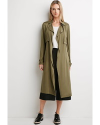 Forever 21 Contemporary Life In Progress Open Front Trench Coat