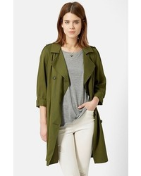 Topshop Double Breasted Long Coat