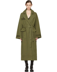 Raquel Allegra Green Oversize Duster Coat