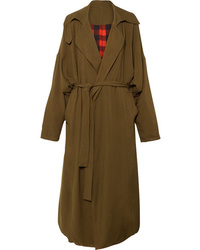 Preen by Thornton Bregazzi Lana Oversized Reversible Twill Coat