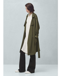 Mango Outlet Flowy Trench