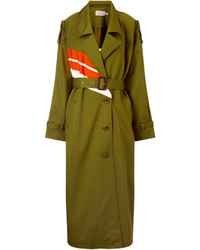 Preen by Thornton Bregazzi Khaki Cotton Warwick Trench Coat