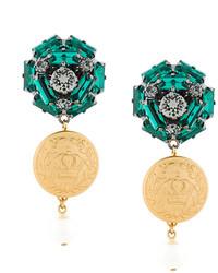 Dolce & Gabbana Coin Drop Earrings