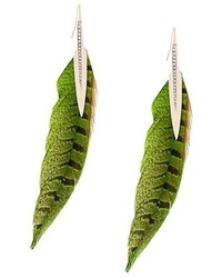 Roberto Cavalli Feather Earrings