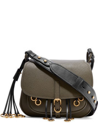 44e1b6dbba8d ... cheap prada corsaire embellished leather shoulder bag army green b38b0  c6d59