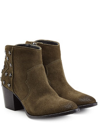 Zadig & Voltaire Embellished Suede Ankle Boots