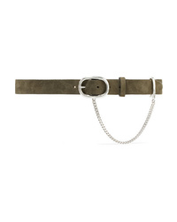 Rag & Bone Wingman Chain Embellished Suede Belt